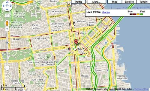 Google Innovates On Maps To Show Highway And Arterial Traffic