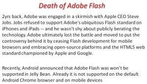 Death of Adobe Flash