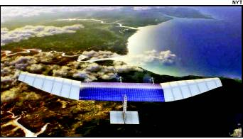 Among various options, the team of experts is considering a solar-powered drone that can stay aloft for months, be quickly deployed and deliver reliable internet connection