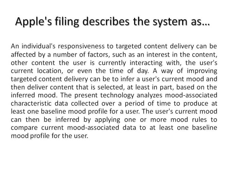 Apple's filing describes the system as
